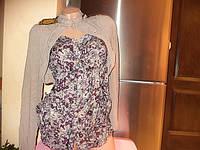 Женская блузка с болеро.Трикотаж,штапель