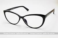Женские очки для компьютера на лицо больше среднего. Стеклянные линзы