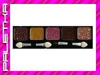 Глиттеры NYX 5 цветов №09 Вкусные оттенки шоколада