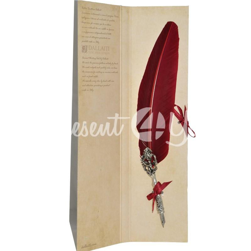 Перо для каллиграфии Dallaiti,8x35 см.(бордо)