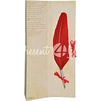 Перо для каллиграфии Dallaiti,8x35 см.(красное)