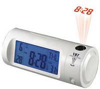 Часы с проектором будильник термометр Chaowei 8097, комнатный термометр