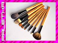 Проф. набор кистей MEGAGA для макияжа 9 штук #3 Brown