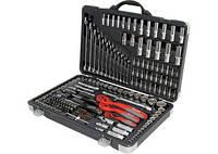 """Набор инструмента, 1/4"""", 3/8"""", 1/2"""", Cr-V, S2, усиленный кейс, 216 предм. MATRIX PROFESSIONAL"""