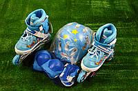 Роликовые коньки Rooney Combo 32-35 синие, фото 1