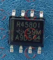 Двухканальный операционный усилитель TI RC4580IPWR TSSOP8