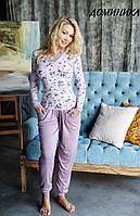 Женская пижама/домашний костюм с брюками/бриджами ДОМИНИКА Fleur Lingerie
