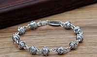 Женский серебряный браслет Шарики Кельтский крест Chrome Hearts