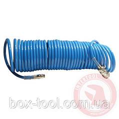Шланг спиральный полиуретановый 5,5 x 8 мм, 15 м INTERTOOL PT-1708