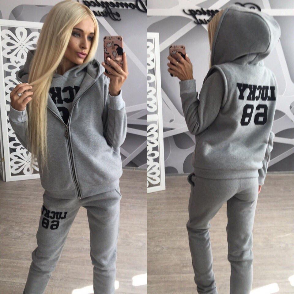 Купить женский спортивный костюм тройку в-3105219 недорого в Украине ... b80ef13cacc