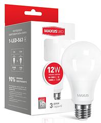 LED лампа Maxus A65 12W Мягкий свет  220V Е 27
