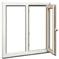 """Поворотно-откидное окно из """"теплого"""" алюминия, белое, Lorenzoline 54Т, 1300*1400"""