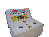 Инкубатор домашний Курочка Ряба на 130 яиц корпус-резаный пенопласт аналоговый терморегулятор