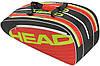 Яркая теннисная сумка-чехол на 8 ракеток  283414 Elite Combi  BKRD HEAD