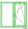 "Поворотно-откидное окно из ""теплого"" алюминия, покраска RAL двухстороняя, Lorenzoline 54Т, 1300*1400, фото 5"