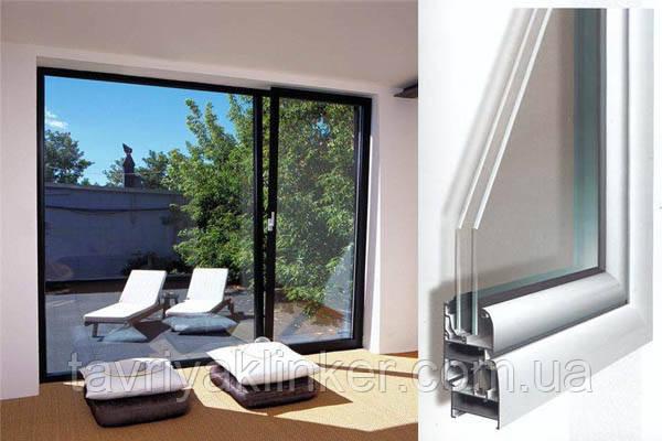 "Поворотно-откидное окно из ""теплого"" алюминия, покраска RAL двухстороняя, Lorenzoline 54Т, 1300*1400"
