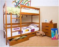 Кровать двухъярусная Дисней, бук - 0,8