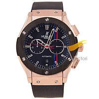Мужские механические часы Hublot Classic Fusion Black Gold (Хаблот)