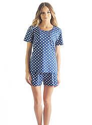 Женская пижама в горошок (шорты+футболка)