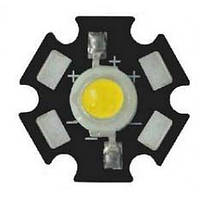 LED светодиод 1w  с радиатором (на подложке) САМАЯ НИЗКАЯ ЦЕНА!