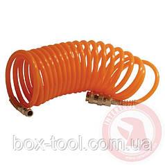 Шланг спиральный с быстроразъемным соединением 15 м INTERTOOL PT-1702