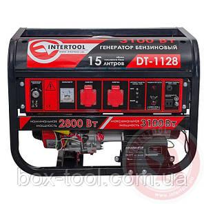 Генератор бензиновый макс мощн 3,1 кВт 4-х тактный, электрический и ручной пуск INTERTOOL DT-1128, фото 2