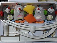 Музыкальный мобиль, карусель для детской кроватки Кротики