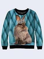 Світшот 3D Королівський кролик / свитшот , фото 1