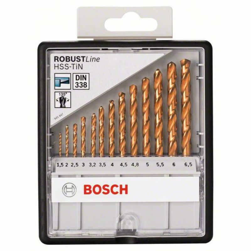 Набор сверл Bosch HSS-TIN 13 шт, ROBUST LINE, 2607010539