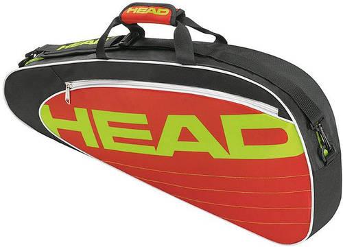Маленькая вместительная теннисная сумка-чехол на три ракетки  283454 Elite Pro  BKRD HEAD