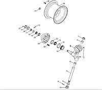 Цапфа заднего колеса правая 87531017 CNH