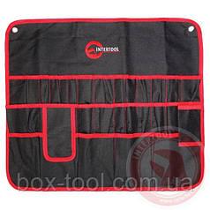 Чехол для инструмента 30 карманов 560ммx485мм INTERTOOL BX-9010