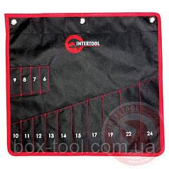 Чохол для гайкових ключів 14 кишень 430ммх430мм INTERTOOL BX-9009