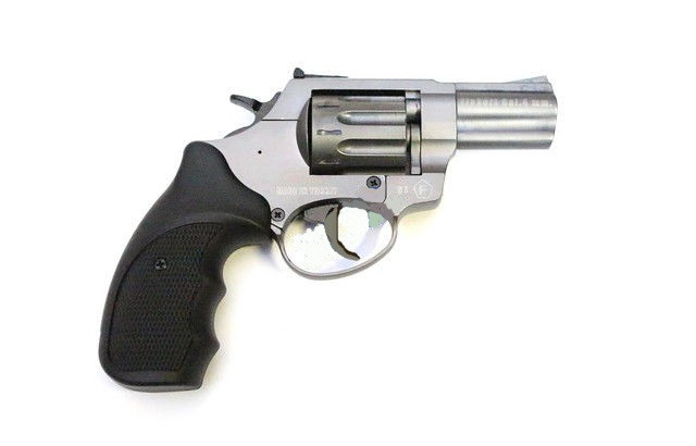 """Пневматика. Револьвер Trooper 2.5"""" сталь титан пластик/чёрный. Под патрон Флобера"""
