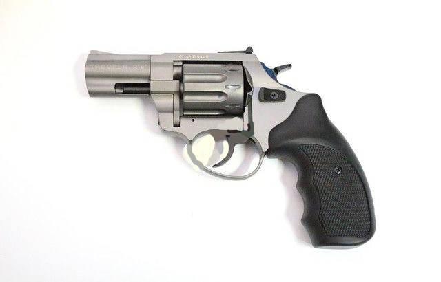 """Пневматика. Револьвер Trooper 2.5"""" сталь титан пластик/чёрный. Под патрон Флобера, фото 2"""