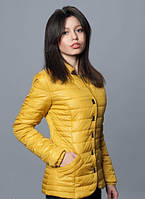 Женская курточка горчичного цвета