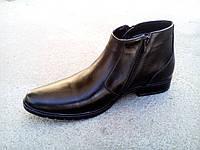 Мужские кожаные зимние ботинки-туфли классика  40-45 р-р, фото 1