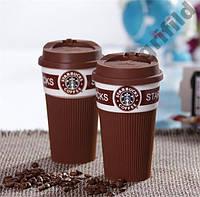 Чашка керамическая кружка Starbucks Brown стакан для кофе, чая, горячих напитков StarBucks, StarBuck