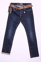 Утеплені чоловічі джинси Resalsa з потертостями