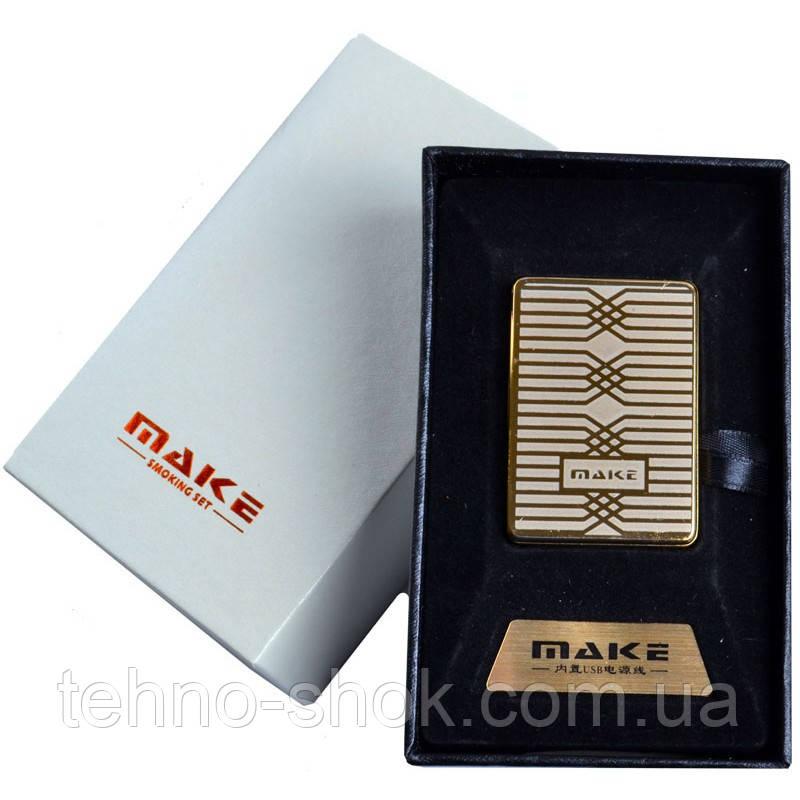 Зажигалка подарочная MAKE (спираль накаливания, USB) №4692-1
