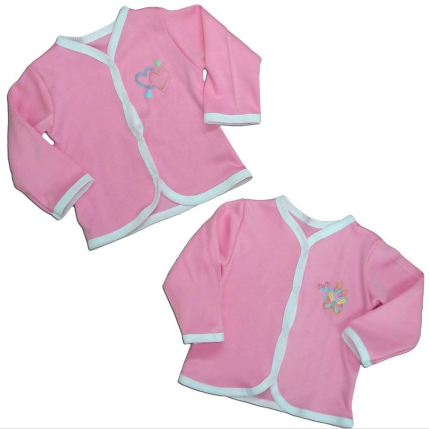 """Кофта ясельная для девочки """"Кнопка"""", розовый, рост 74"""