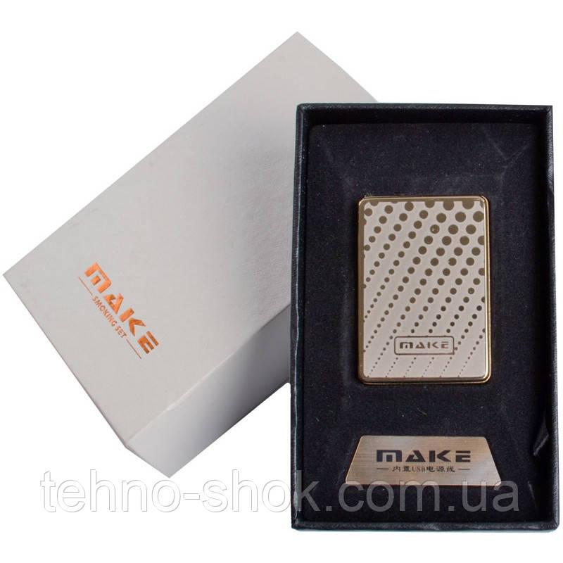 Зажигалка подарочная MAKE (спираль накаливания, USB) №4692-3