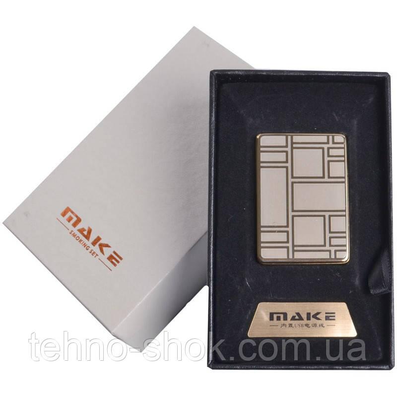 Зажигалка подарочная MAKE (спираль накаливания, USB) №4692-4