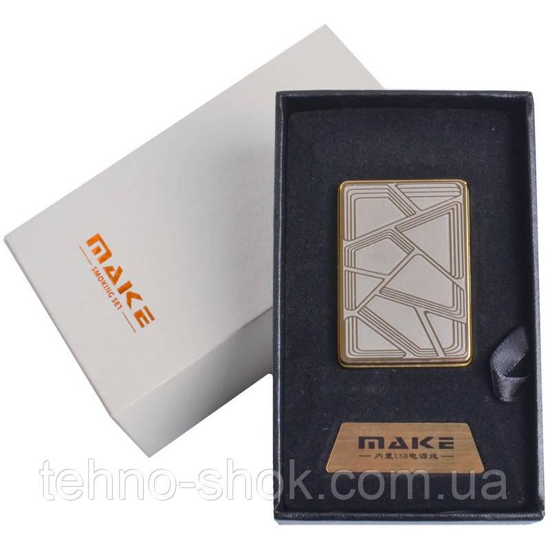 Зажигалка подарочная MAKE (спираль накаливания, USB) №4692-6