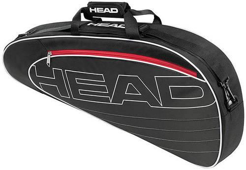 Черная удобная теннисная сумка-чехол на три ракетки 283454 Elite Pro  BKWH HEAD