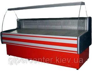 Морозильная витрина Айстермо ВХН ПАЛЬМИРА 1.2 (-8...-10°С, 1200х820х1200 мм, гнутое стекло), фото 2