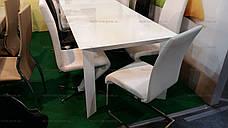 Стол стеклянный раскладной Sever I (DF201T) DAOSUN,  белый, фото 3