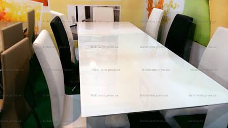 Стол стеклянный раскладной Sever I (DF201T) DAOSUN,  белый, фото 2