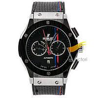 Мужские механические часы Hublot Classic Fusion Black Silver (Хаблот)
