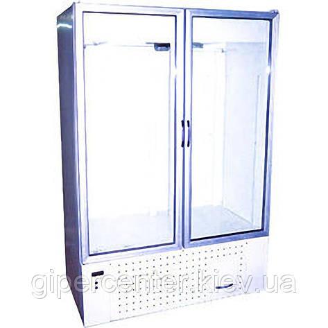 Холодильный шкаф со стеклянными дверями Айстермо ШХС-1.0 (0...+8°С, 1260х700х2000 мм), фото 2
